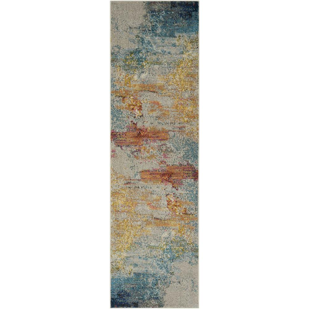 "Celestial Area Rug, Sealife, 2'2"" x 7'6"". Picture 1"