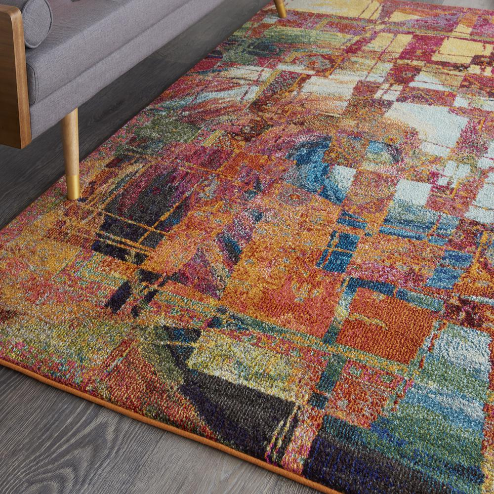 """Celestial Area Rug, Stained Glass, 5'3"""" x 7'3"""". Picture 5"""