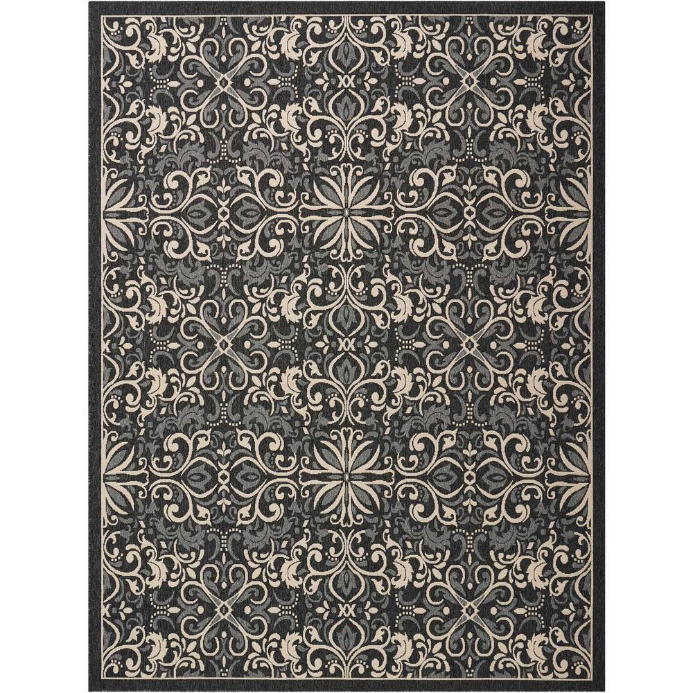 """Caribbean Area Rug, Charcoal, 9'3"""" x 12'9"""". Picture 1"""