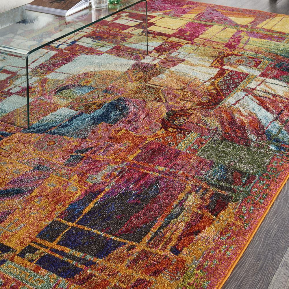 """Celestial Area Rug, Stained Glass, 7'10"""" x 10'6"""". Picture 5"""