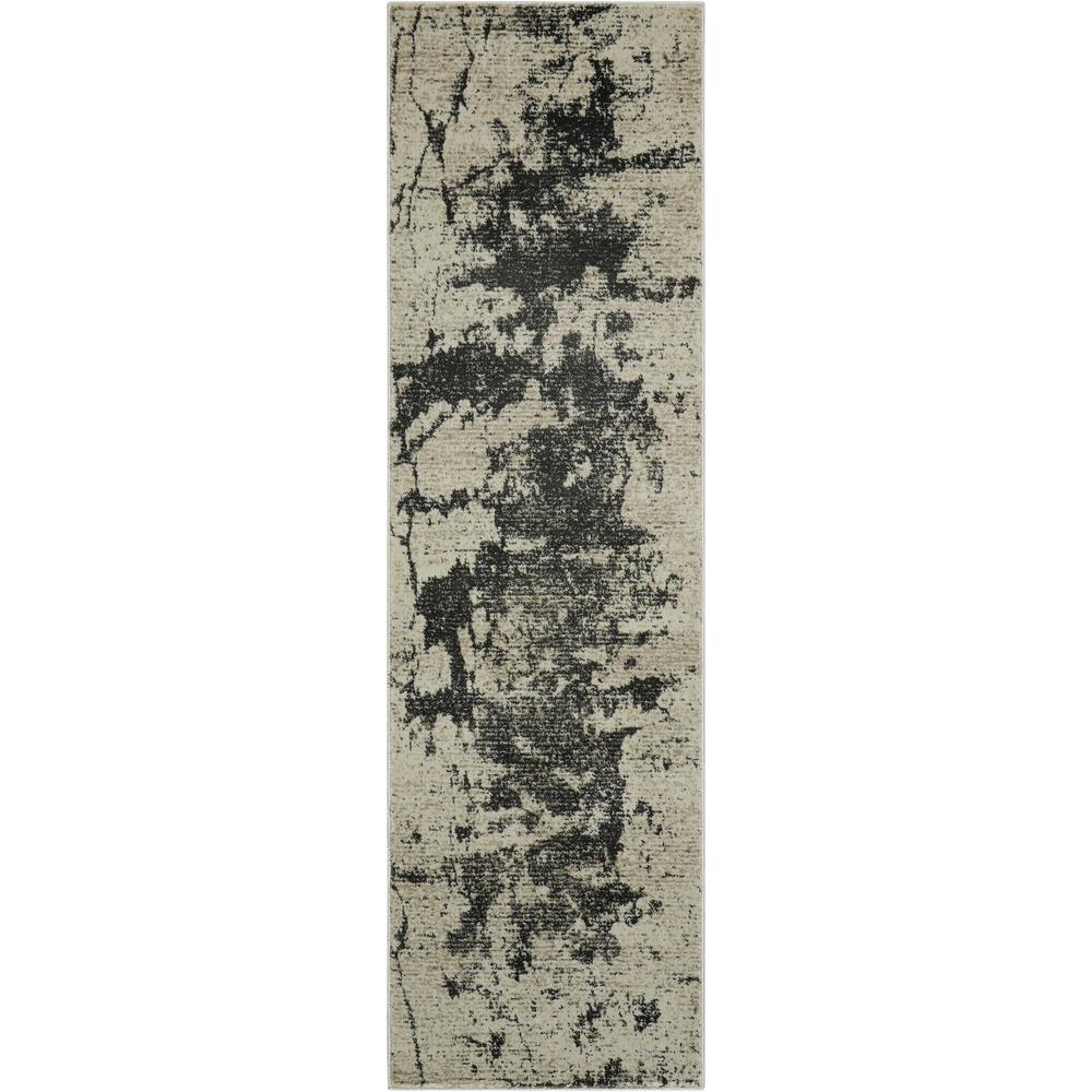 """Maxell Area Rug, Ivory/Grey, 2'2"""" x 7'6"""". Picture 1"""