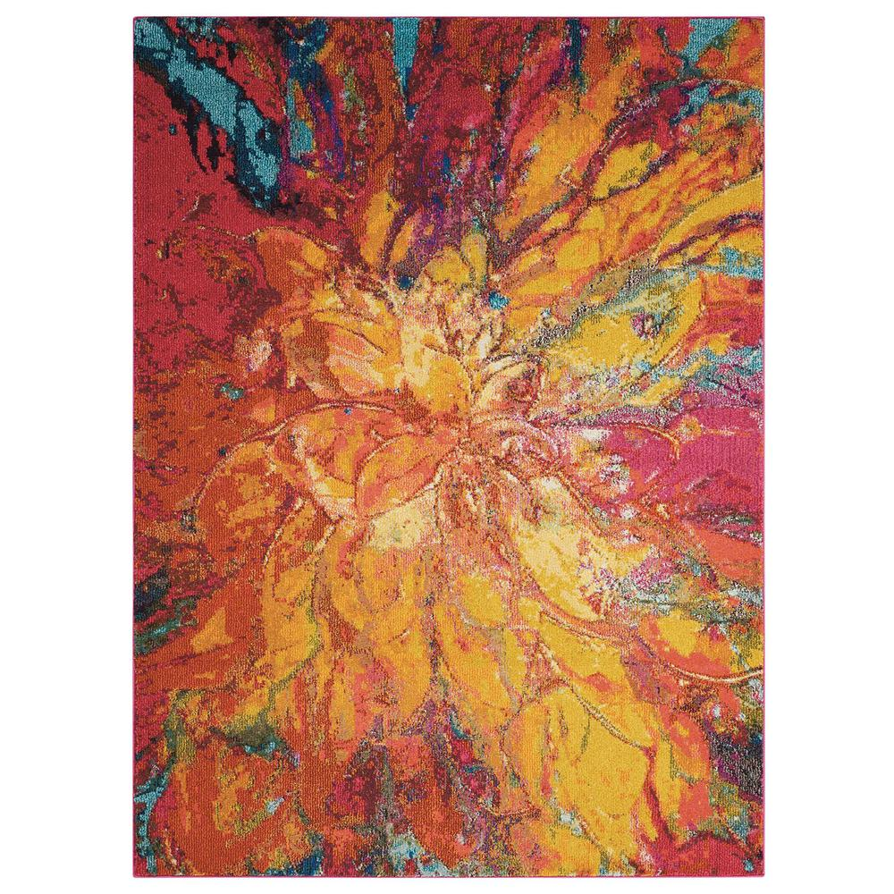"Celestial Area Rug, Cayenne, 3'11"" x 5'11"". Picture 8"