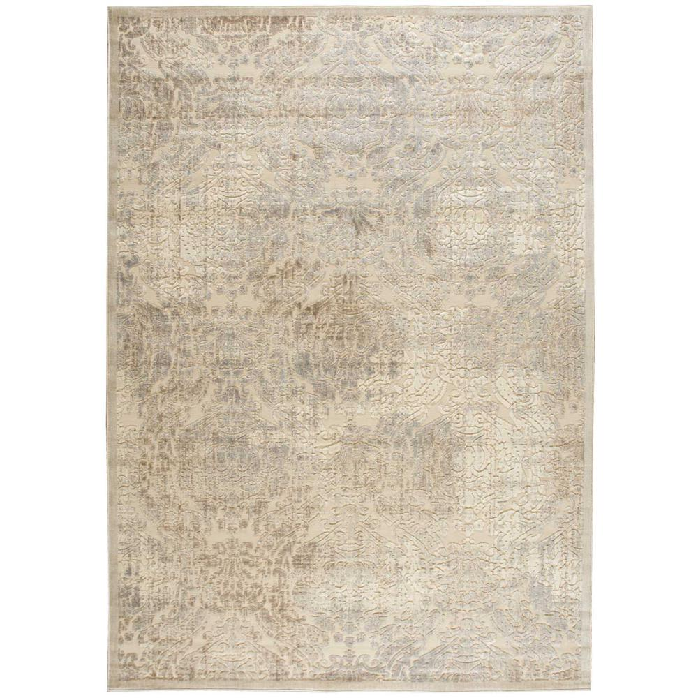 """Graphic Illusions Area Rug, Ivory, 6'7"""" x 9'6"""". Picture 1"""