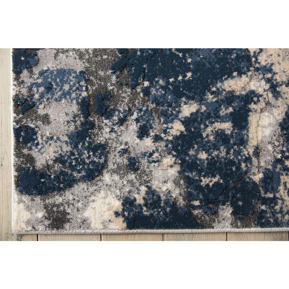 "KI35 Heritage Area Rug, Beige/Blue, 5'2"" x 7'3"". Picture 4"