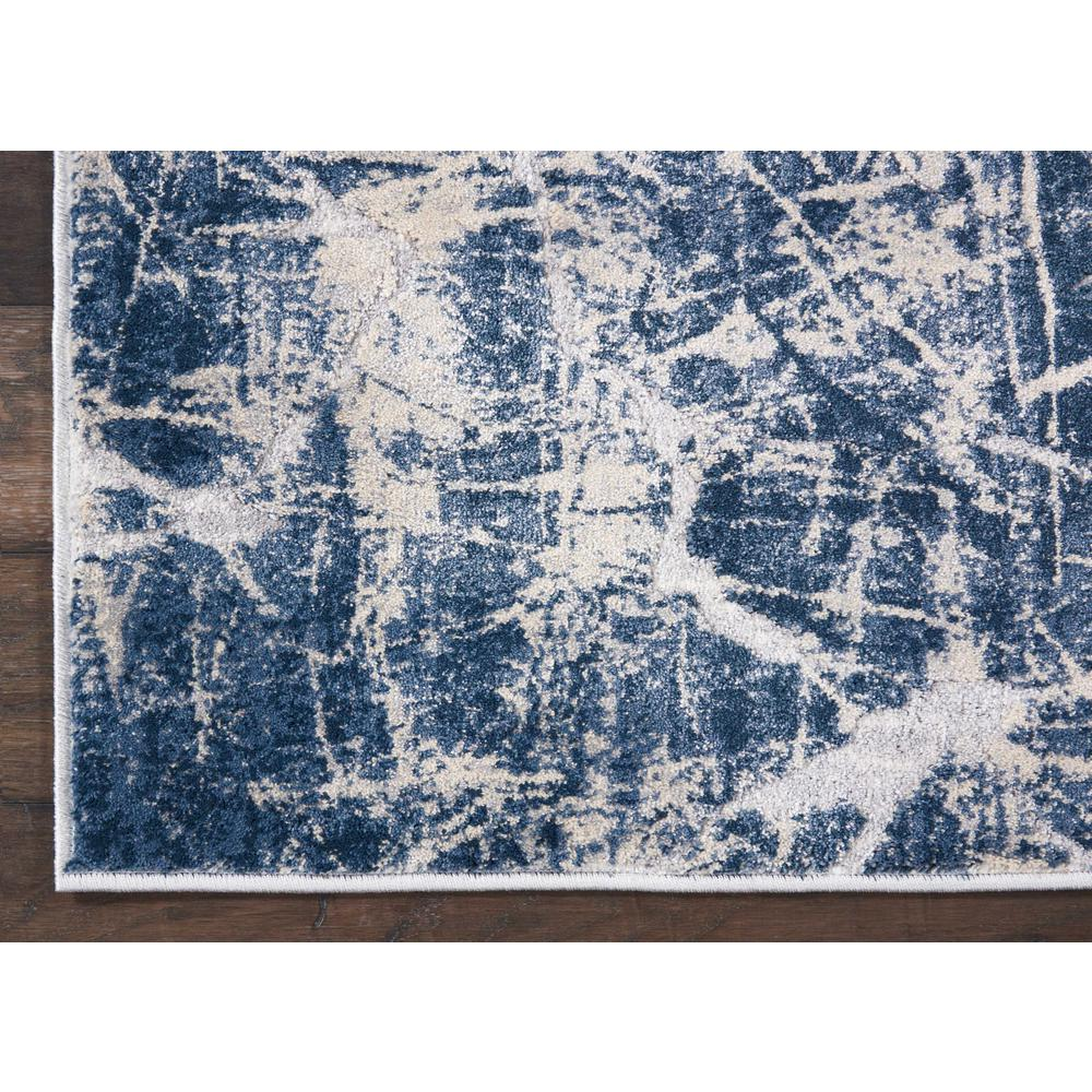 "KI35 Heritage Area Rug, Beige/Blue, 2'2"" x 7'6"". Picture 4"