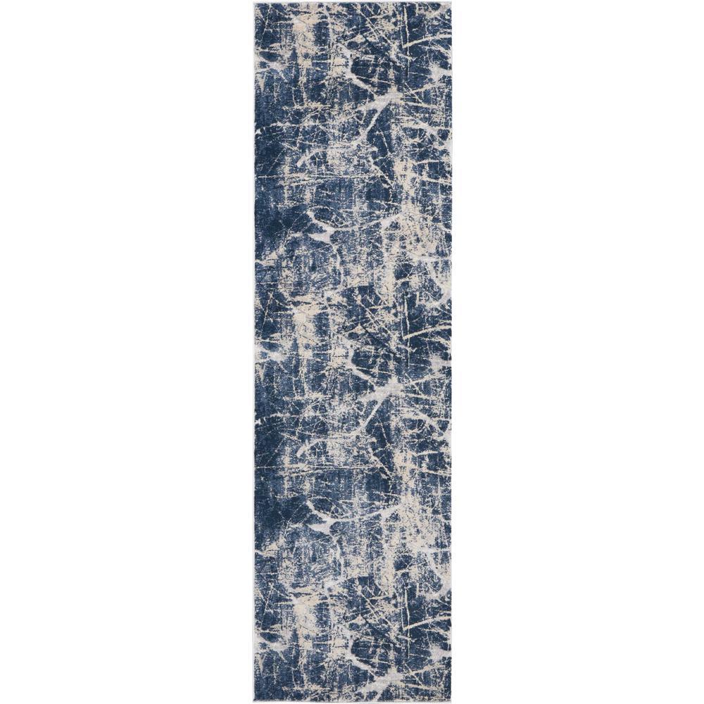 "KI35 Heritage Area Rug, Beige/Blue, 2'2"" x 7'6"". Picture 1"