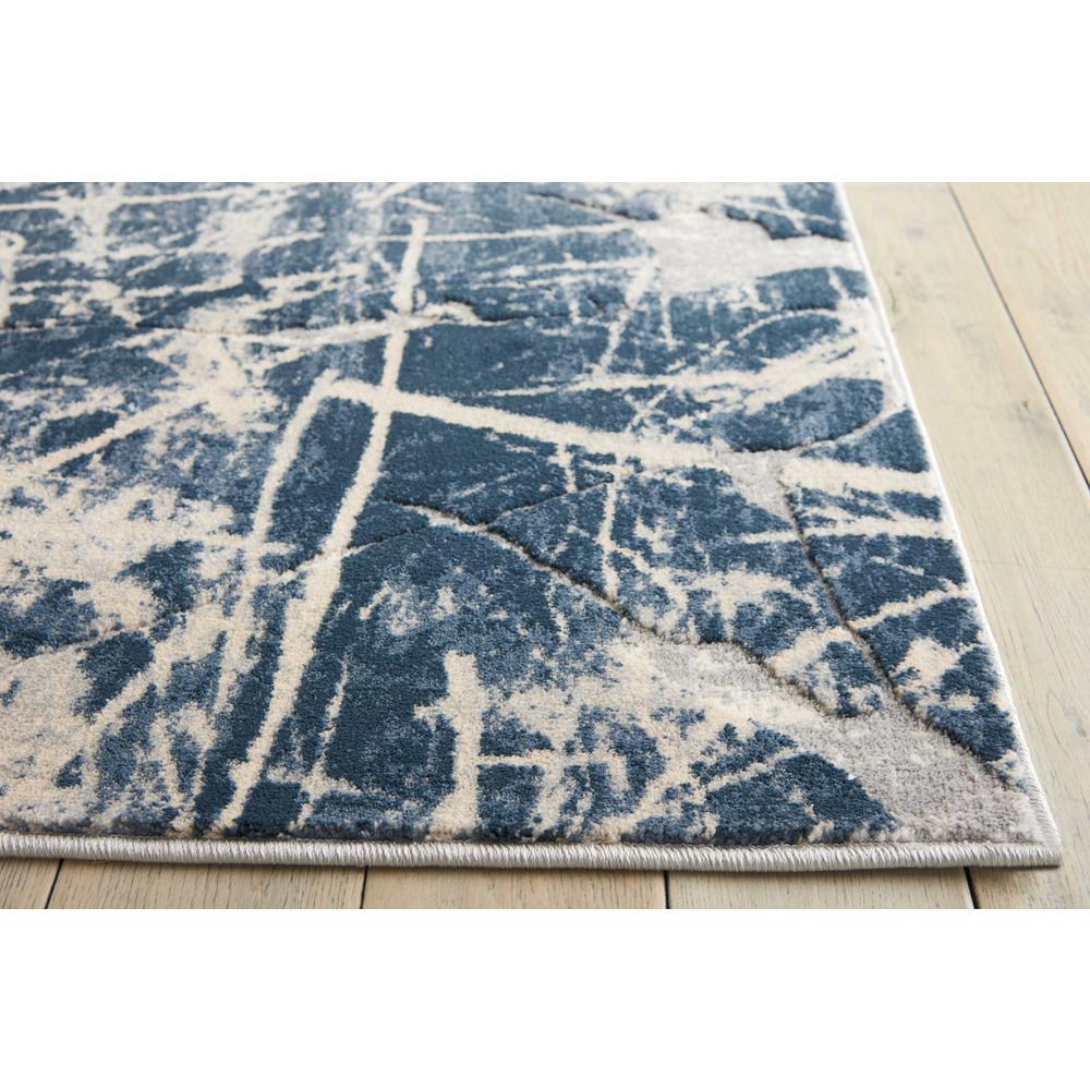 "KI35 Heritage Area Rug, Beige/Blue, 8' x 10'5"". Picture 3"