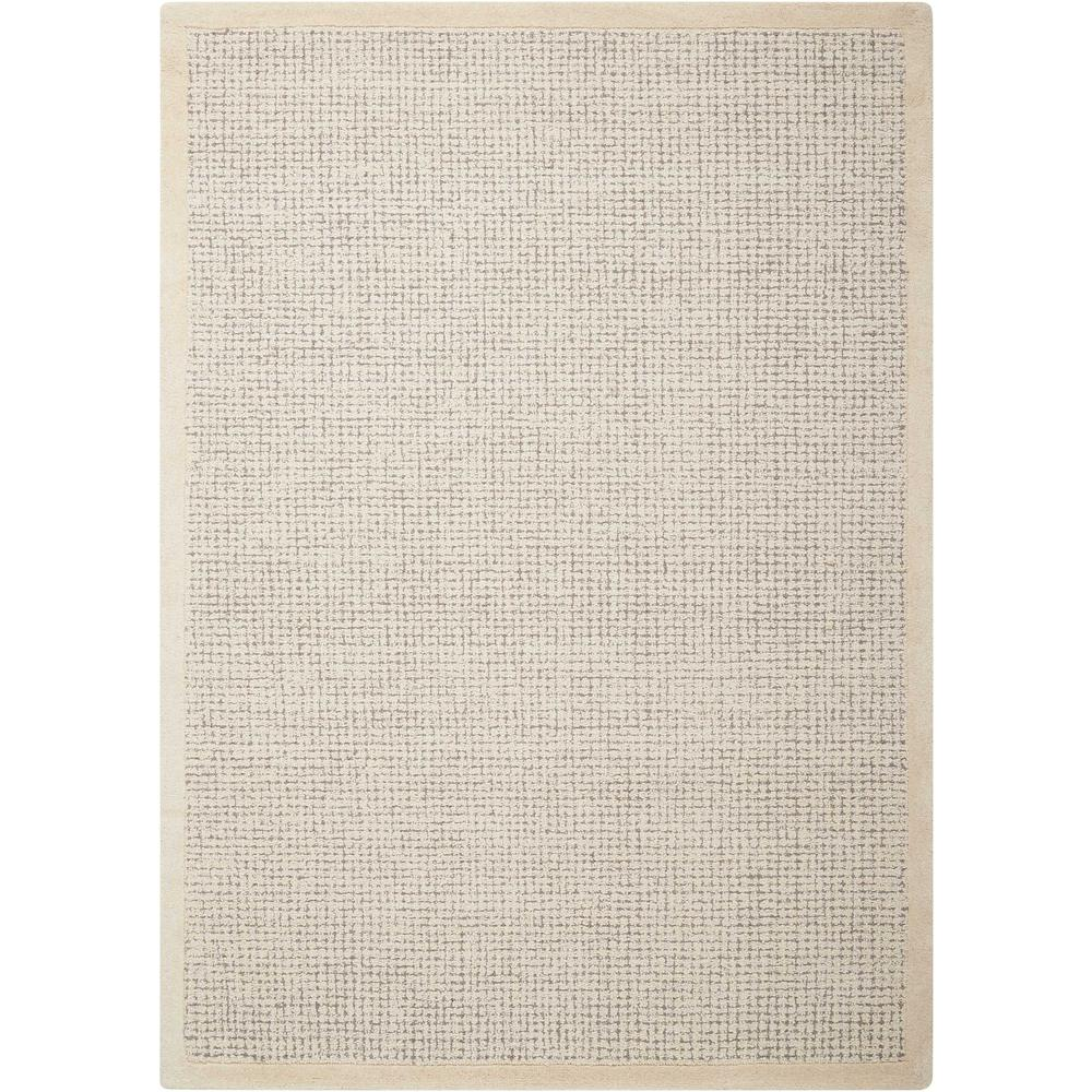 """River Brook Area Rug, Ivory/Grey, 3'9"""" x 5'9"""". Picture 1"""