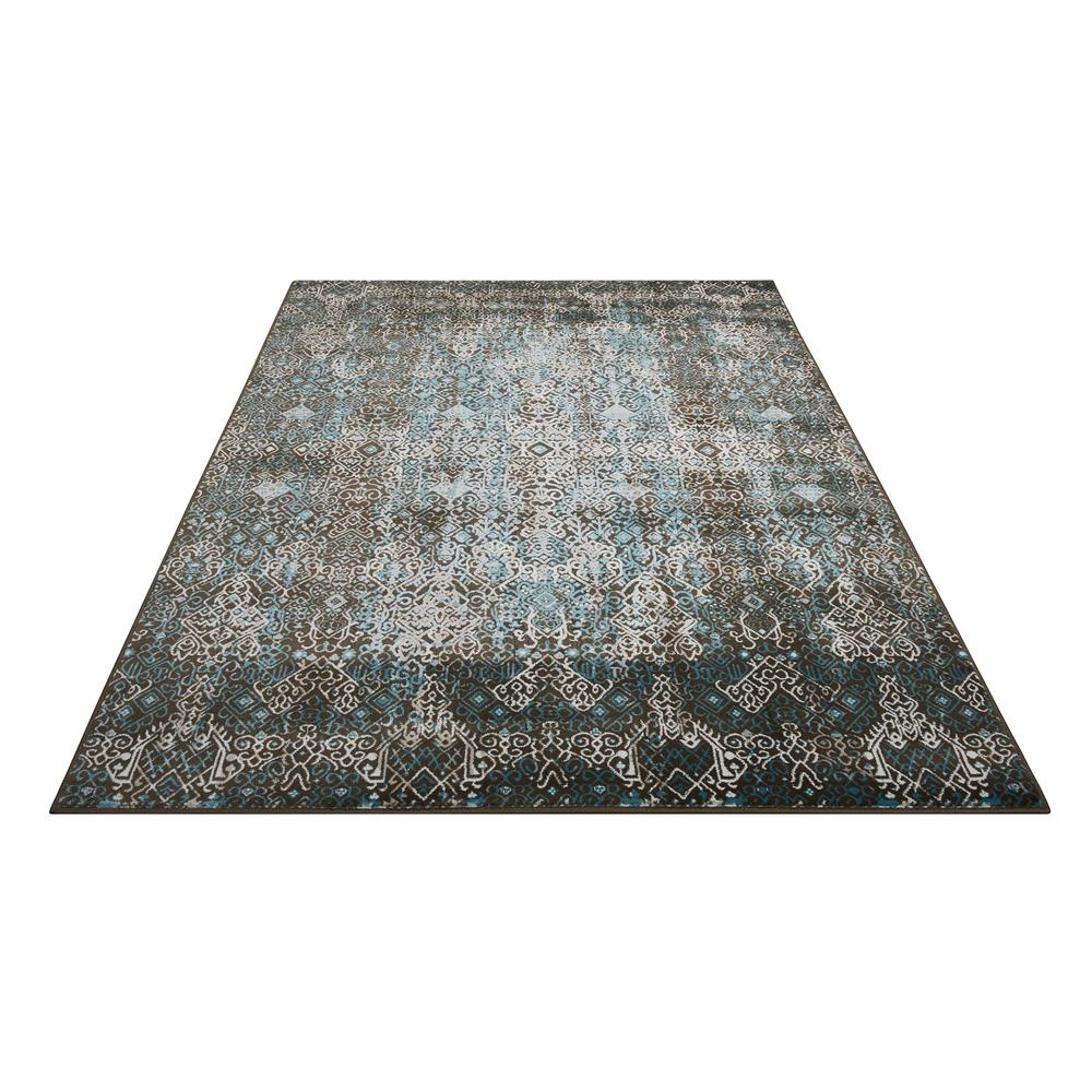 "Karma Area Rug, Blue, 5'3"" x 7'4"". Picture 3"