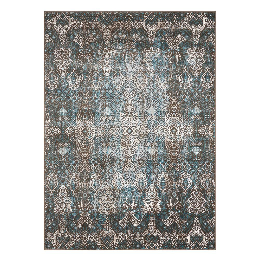 "Karma Area Rug, Blue, 5'3"" x 7'4"". Picture 1"