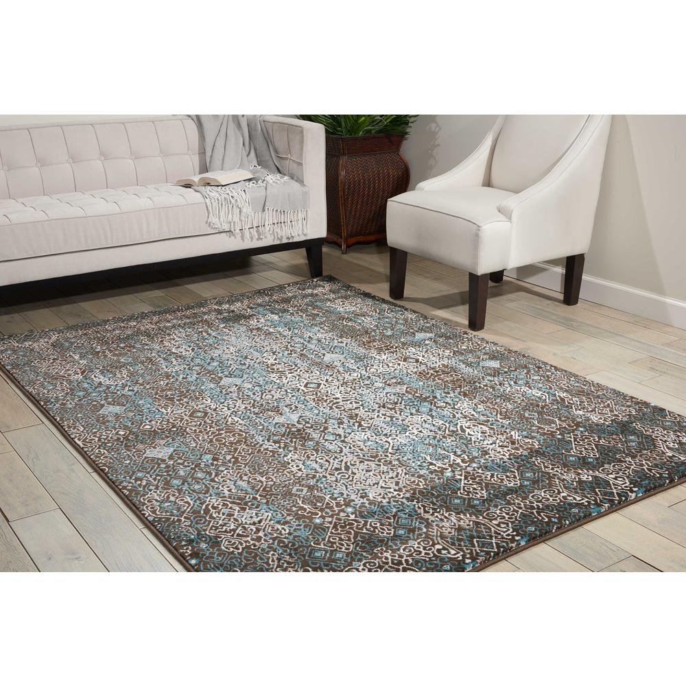 "Karma Area Rug, Blue, 5'3"" x 7'4"". Picture 2"