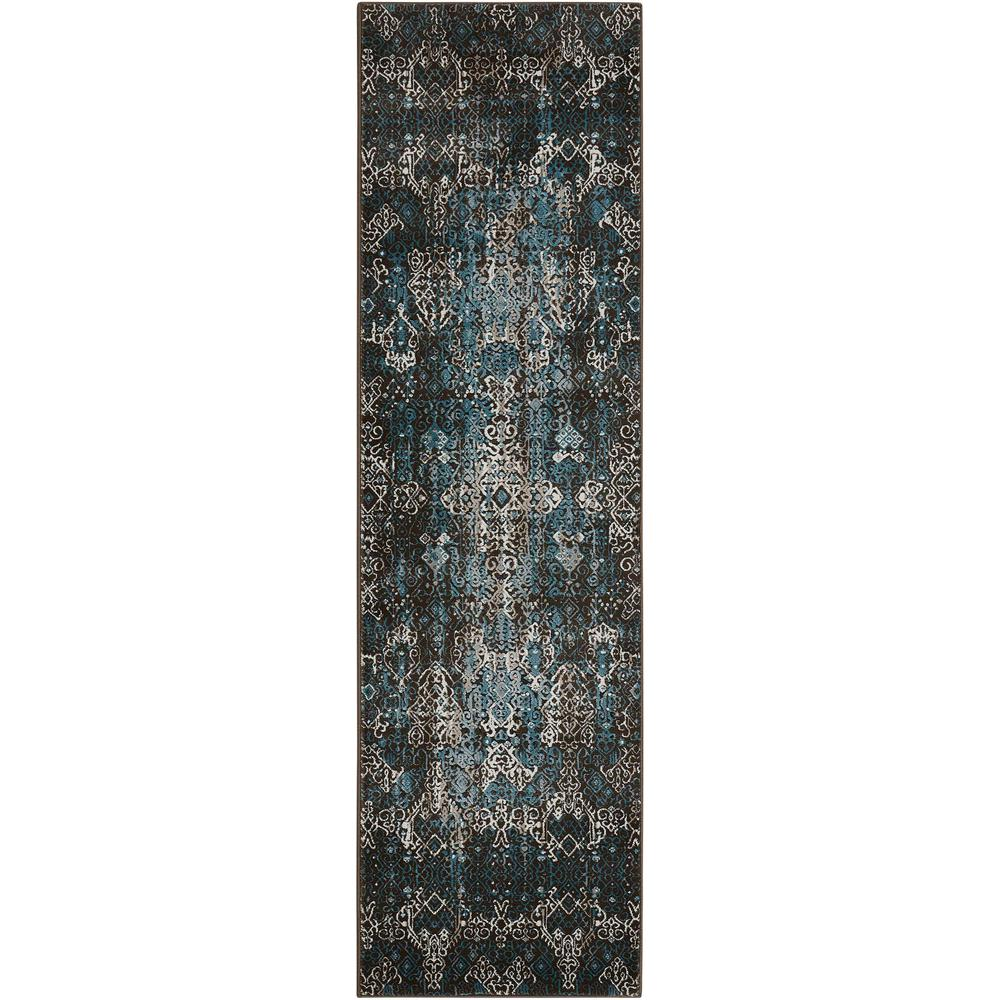"Karma Area Rug, Blue, 2'2"" x 7'6"". Picture 1"