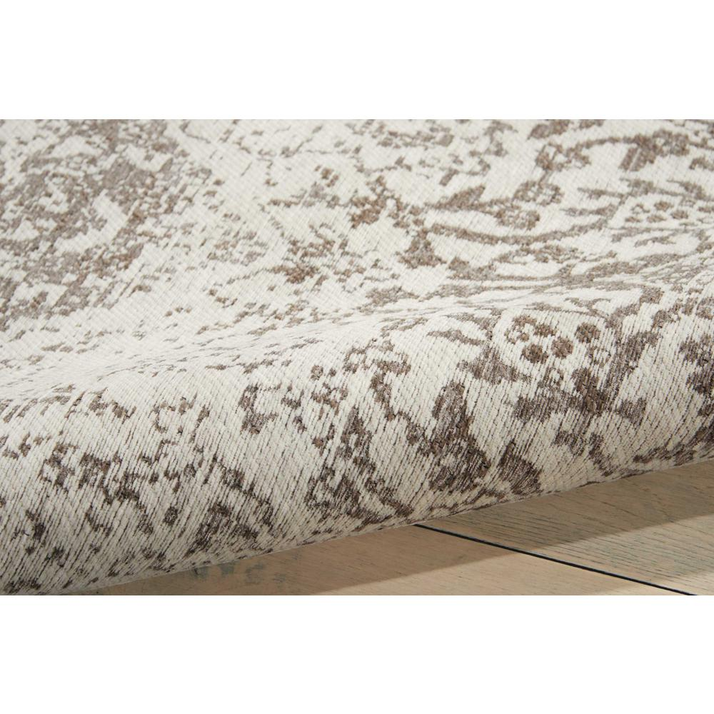Damask Area Rug, Ivory, 8' x 10'. Picture 3