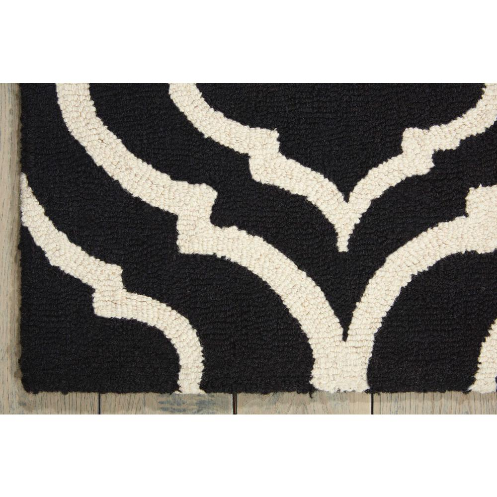 "Linear Area Rug, Black/White, 3'9"" x 5'9"". Picture 4"