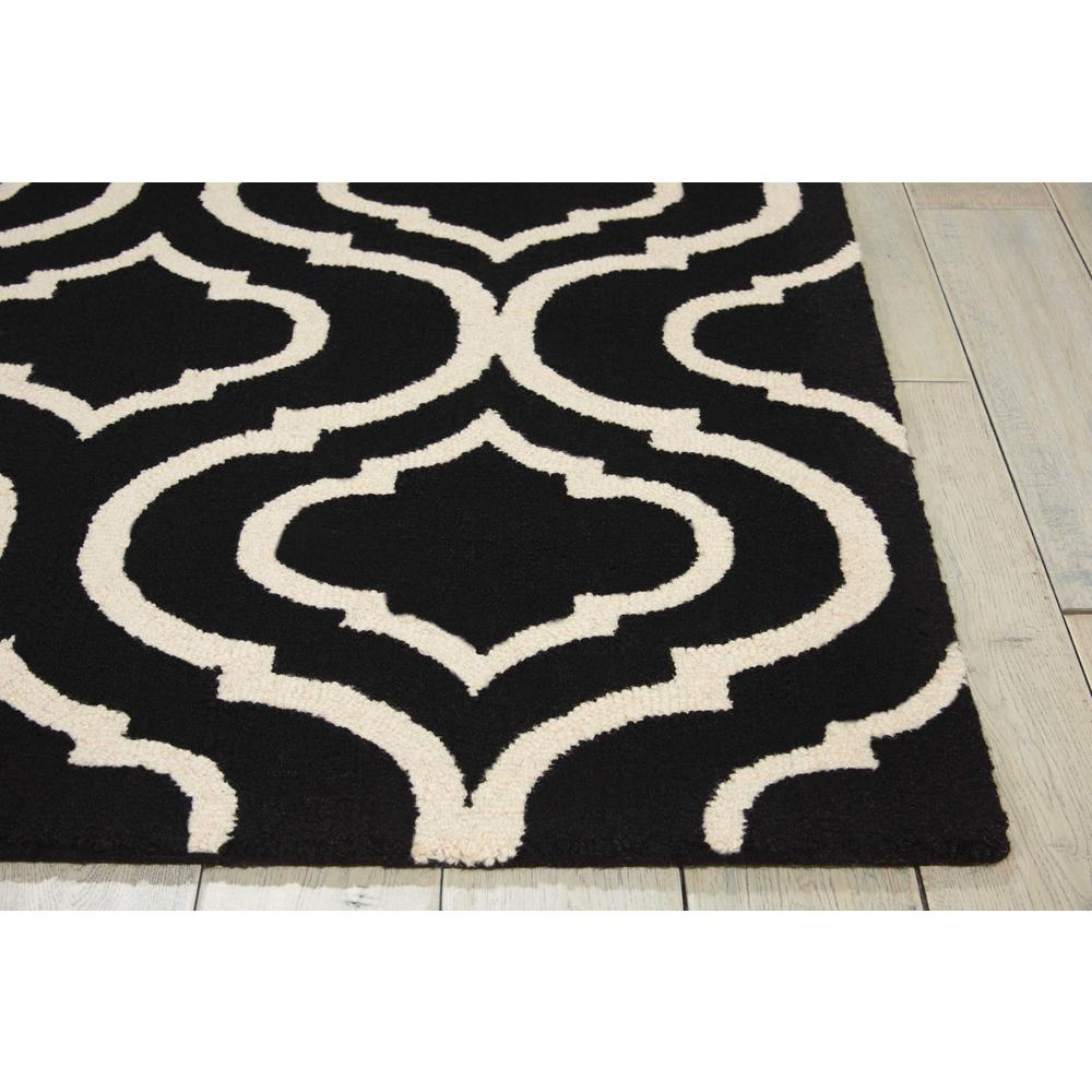 "Linear Area Rug, Black/White, 3'9"" x 5'9"". Picture 5"