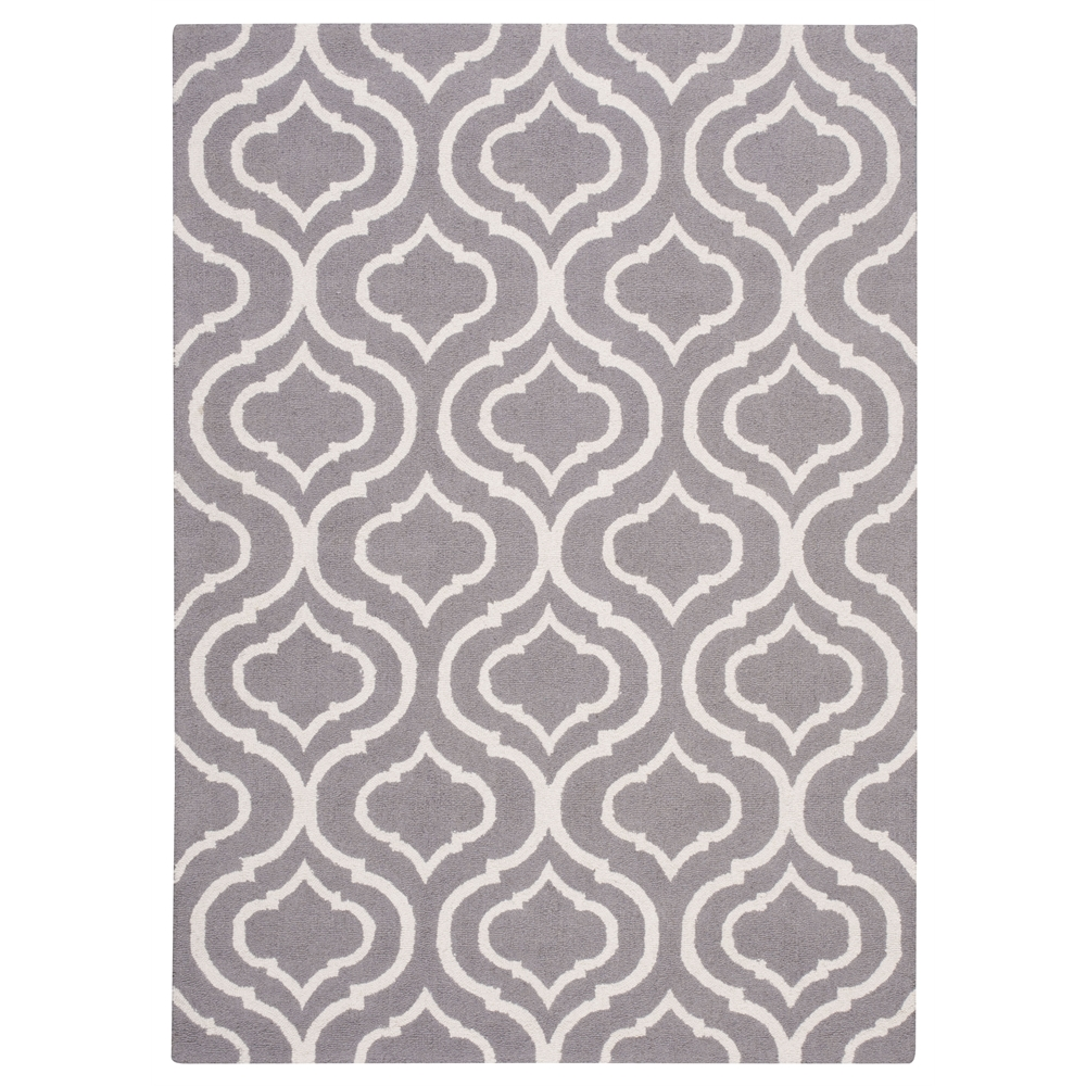 Linear Area Rug, Silver, 5' x 7'. Picture 1