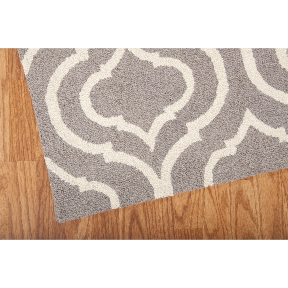 Linear Area Rug, Silver, 5' x 7'. Picture 2