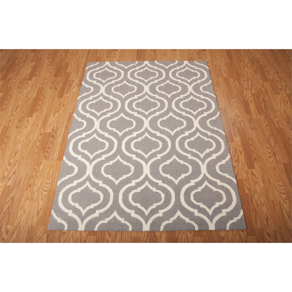 Linear Area Rug, Silver, 5' x 7'. Picture 3