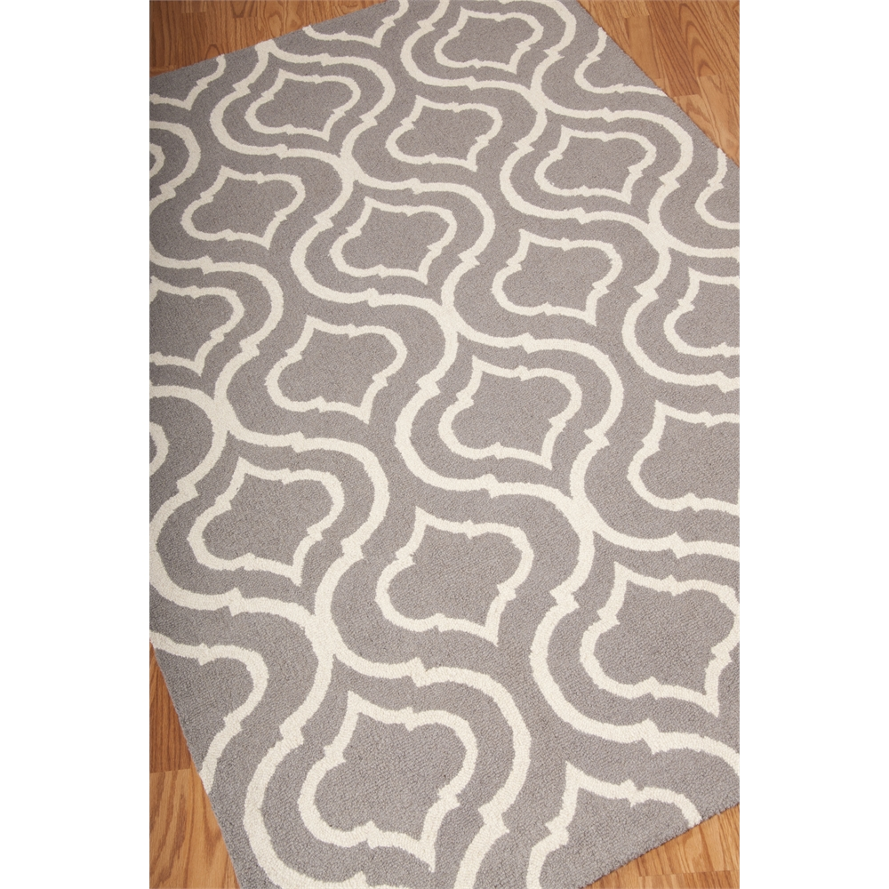 Linear Area Rug, Silver, 5' x 7'. Picture 4