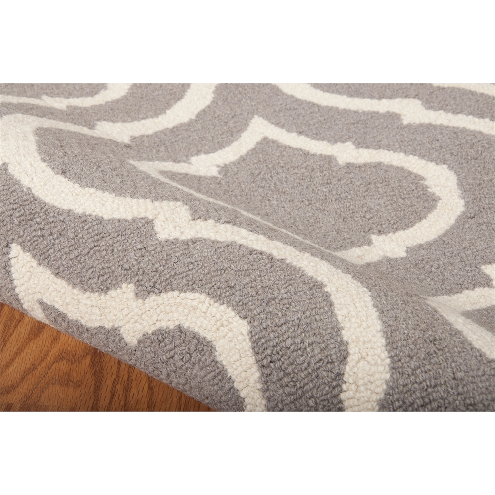 Linear Area Rug, Silver, 5' x 7'. Picture 5