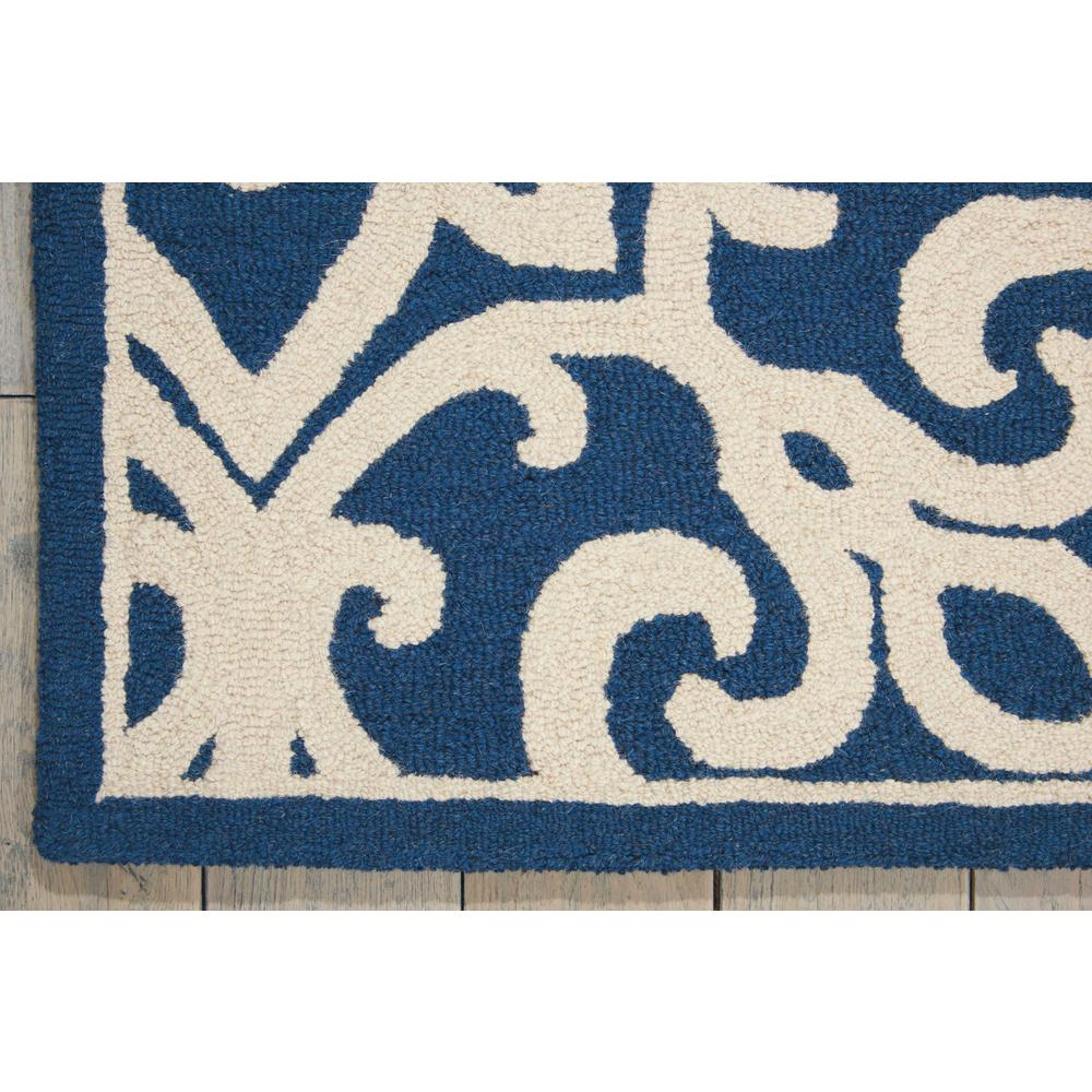 Nourison Linear Navy/Ivory Area Rug. Picture 4