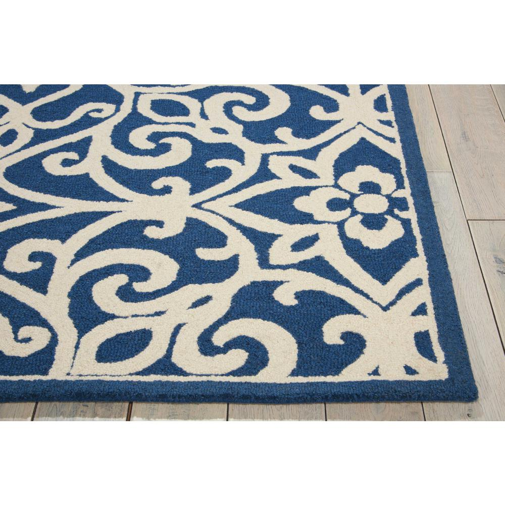 Nourison Linear Navy/Ivory Area Rug. Picture 5