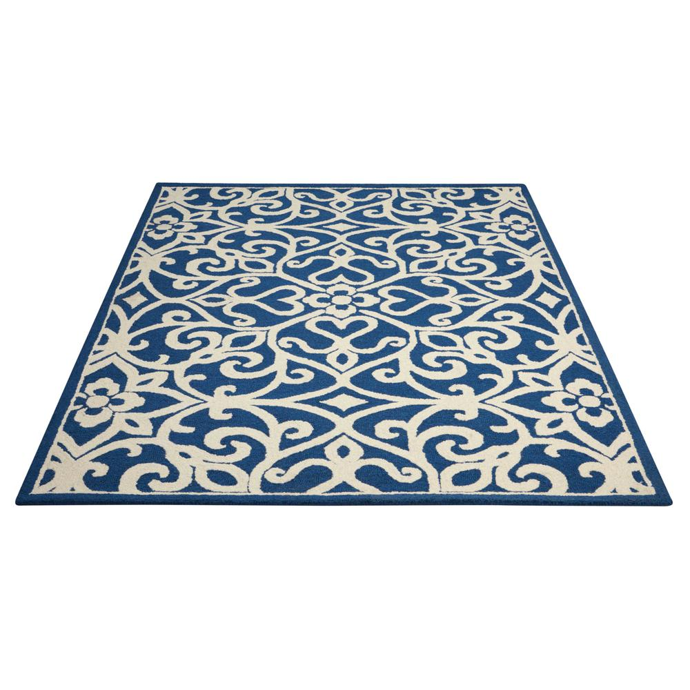 Nourison Linear Navy/Ivory Area Rug. Picture 3