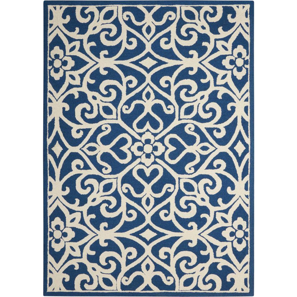 Nourison Linear Navy/Ivory Area Rug. Picture 1