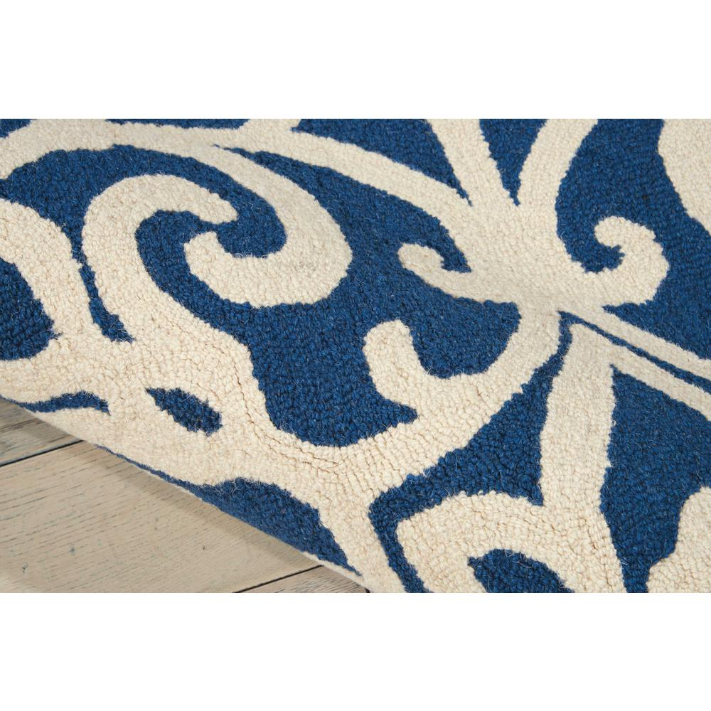 Nourison Linear Navy/Ivory Area Rug. Picture 6