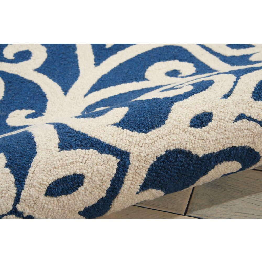 Nourison Linear Navy/Ivory Area Rug. Picture 7