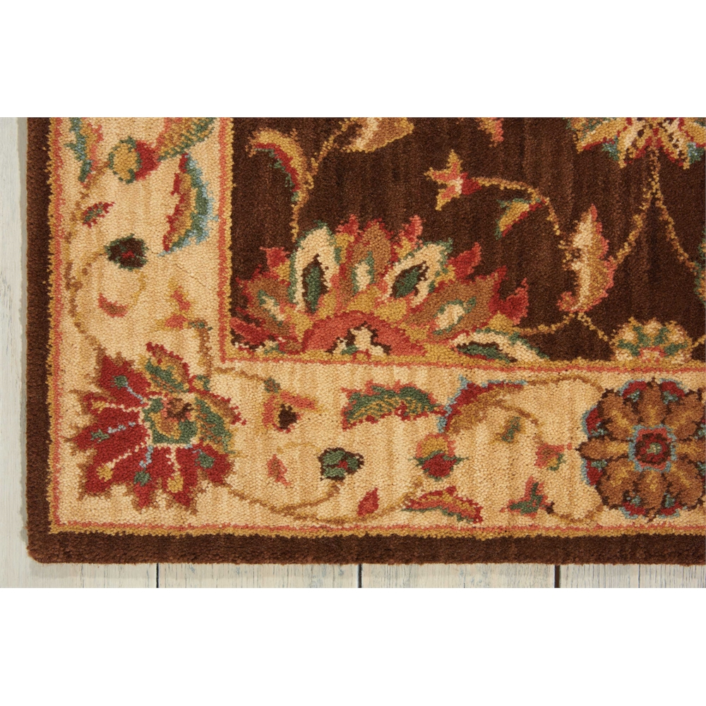 """Living Treasures Area Rug, Brown, 2'6"""" x 8'. Picture 2"""