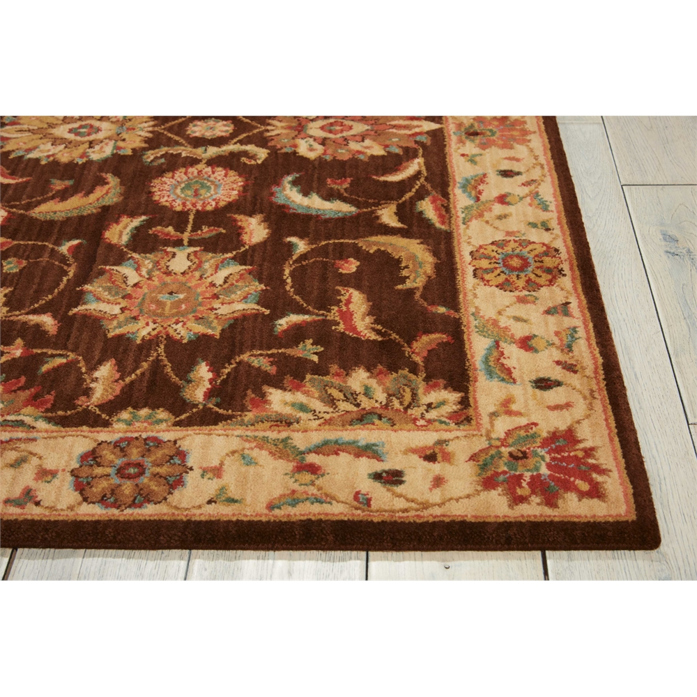 """Living Treasures Area Rug, Brown, 2'6"""" x 8'. Picture 3"""