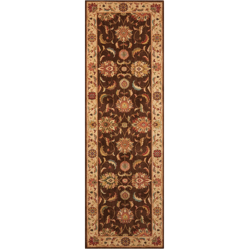 """Living Treasures Area Rug, Brown, 2'6"""" x 8'. Picture 1"""