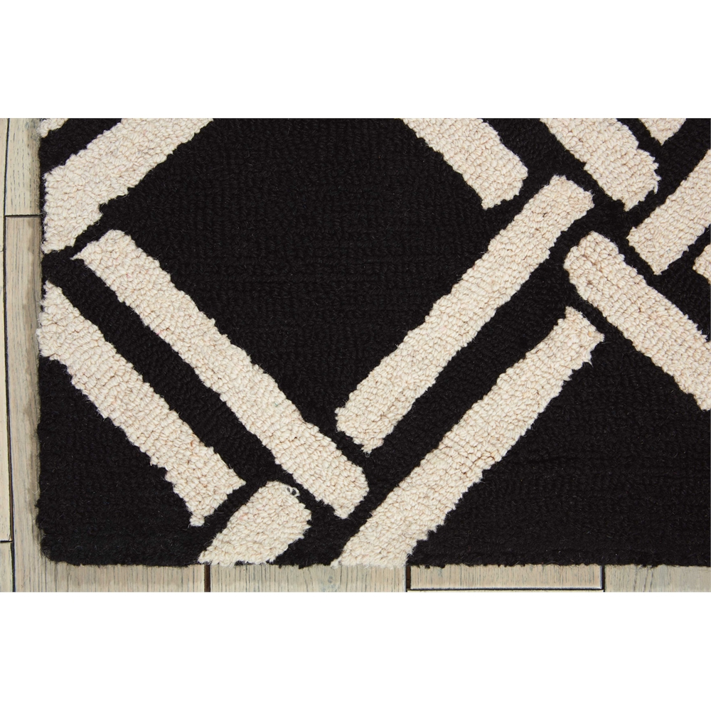 Linear Black/White Area Rug. Picture 2