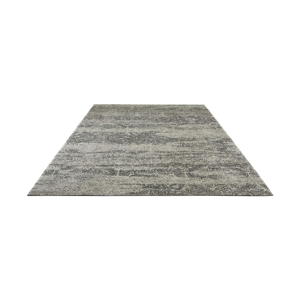 "Luminance Area Rug, Ivory/Black, 9'3"" x 12'9"". Picture 3"
