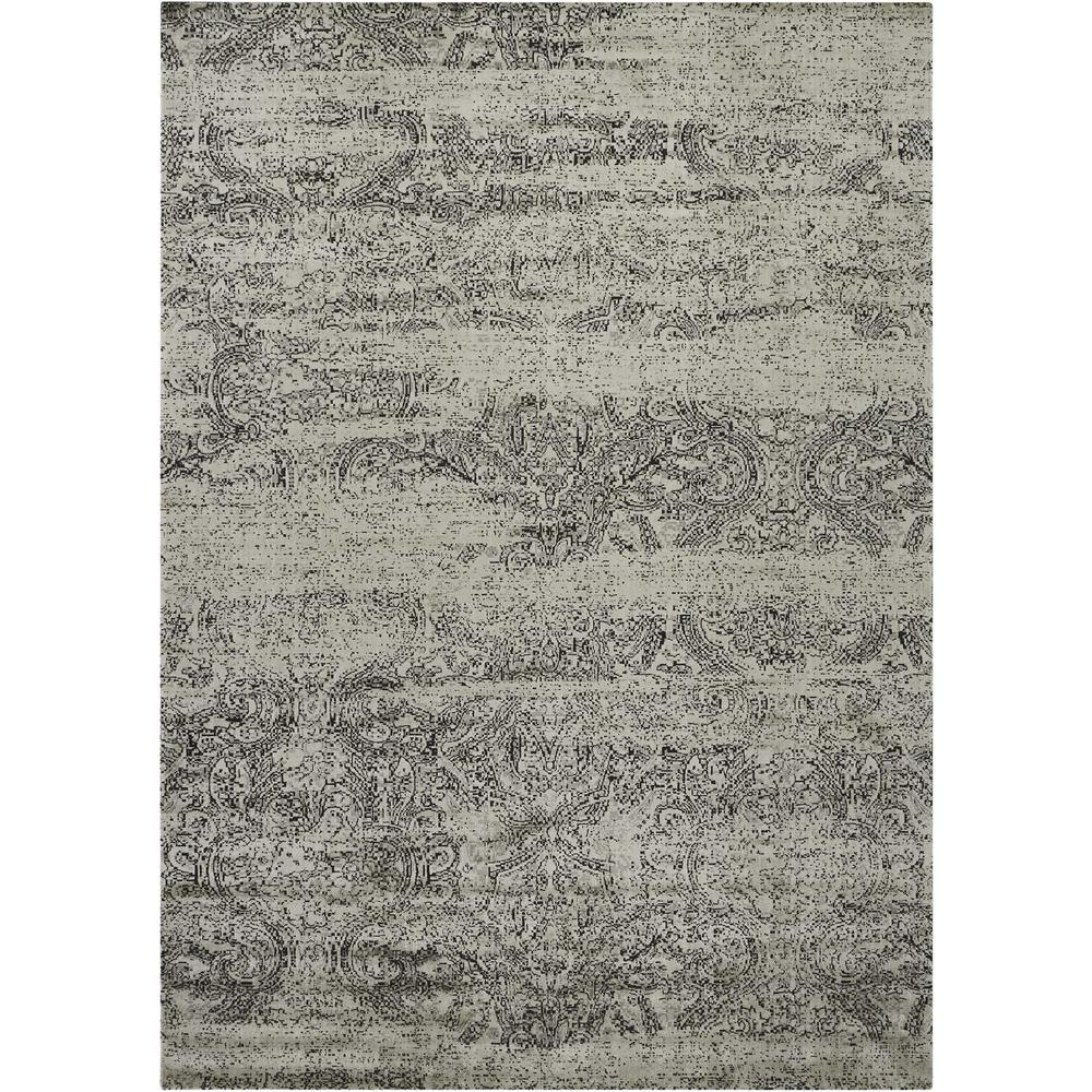 "Luminance Area Rug, Ivory/Black, 9'3"" x 12'9"". Picture 1"