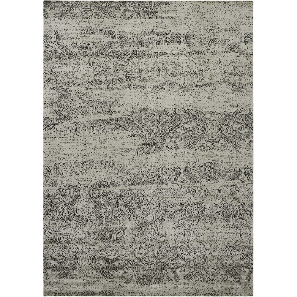 "Luminance Area Rug, Ivory/Black, 7'6"" x 10'6"". Picture 1"