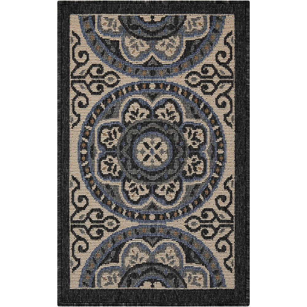 "Caribbean Area Rug, Ivory/Charcoal, 1'9"" x 2'9"". The main picture."