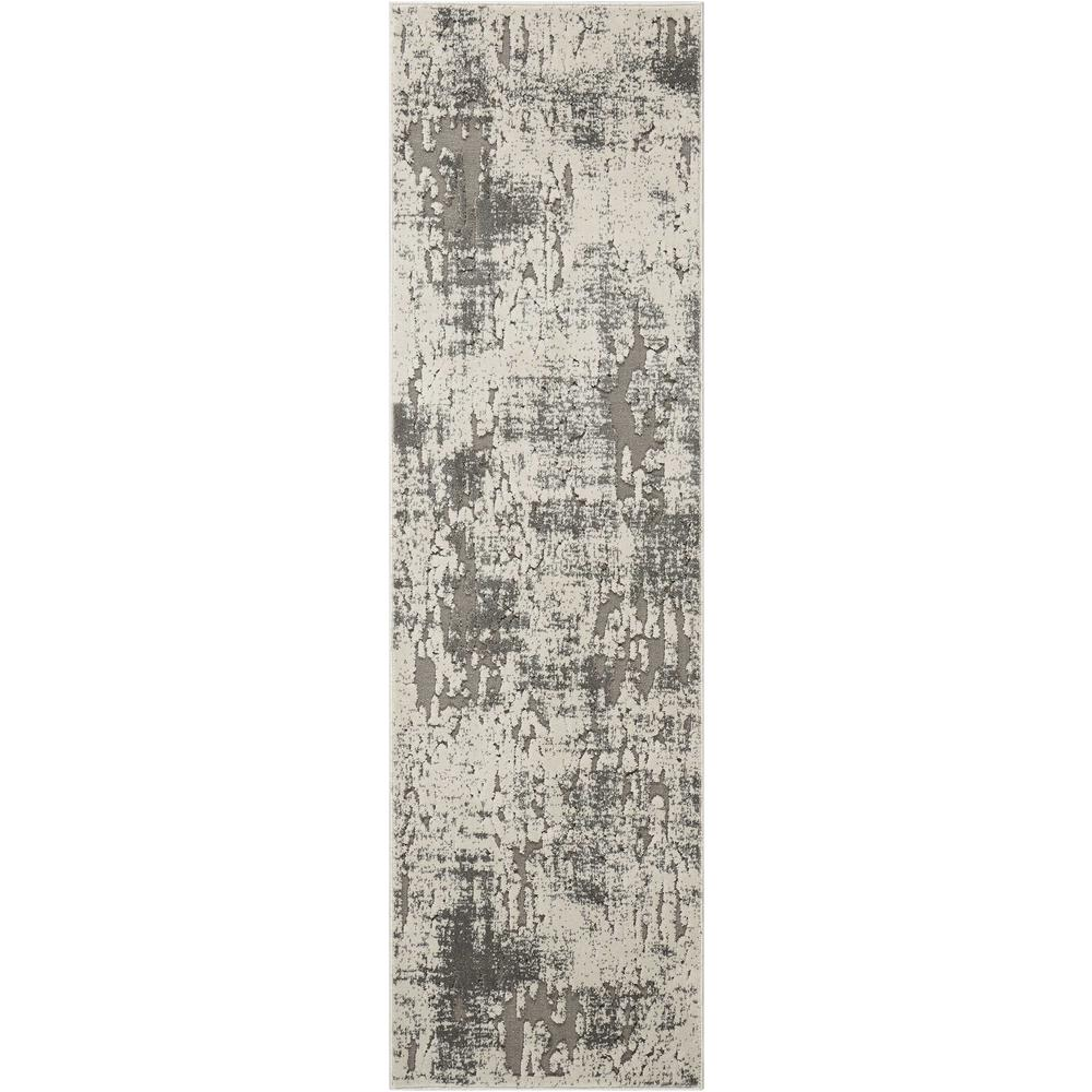 """Gleam Area Rug, Ivory/Grey, 2'2"""" x 7'6"""". Picture 1"""