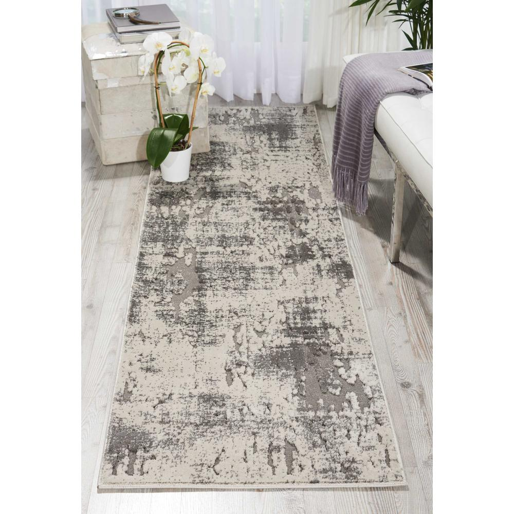 """Gleam Area Rug, Ivory/Grey, 2'2"""" x 7'6"""". Picture 2"""