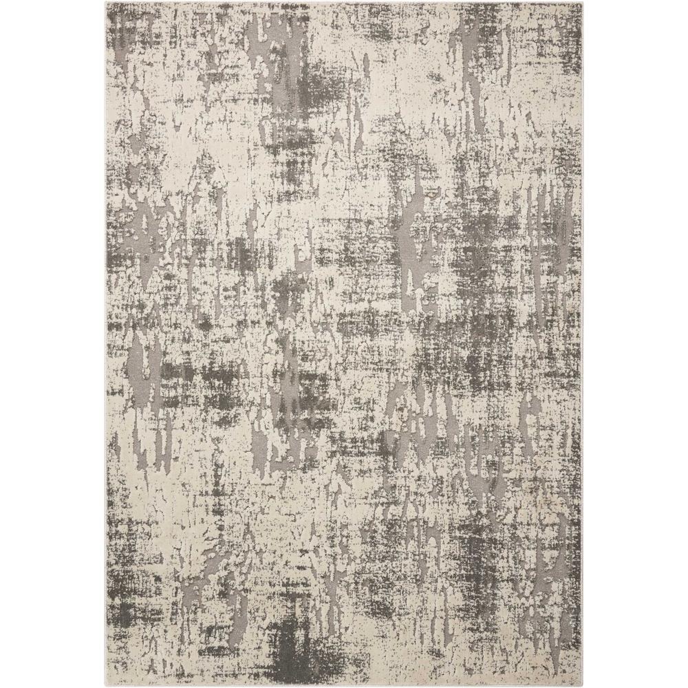 "Gleam Area Rug, Ivory/Grey, 7'10"" x 10'6"". Picture 1"