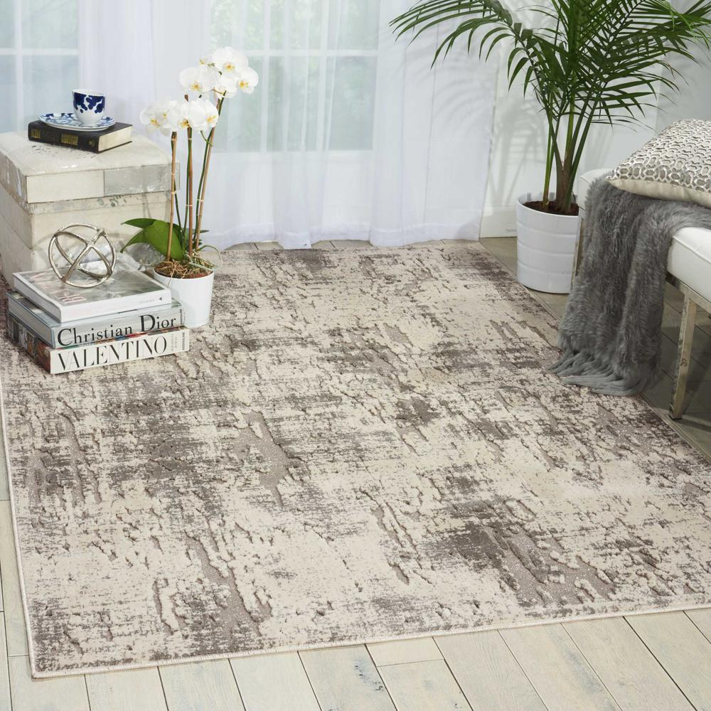 "Gleam Area Rug, Ivory/Grey, 7'10"" x 10'6"". Picture 2"