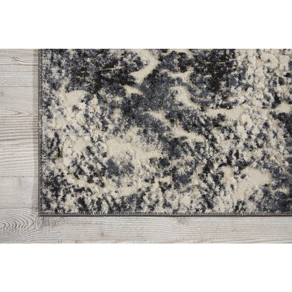 "Gleam Area Rug, Ivory/Slate, 2'2"" x 7'6"". Picture 4"