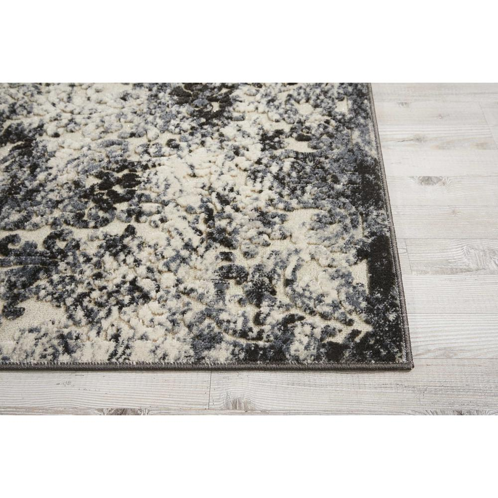 "Gleam Area Rug, Ivory/Slate, 2'2"" x 7'6"". Picture 3"