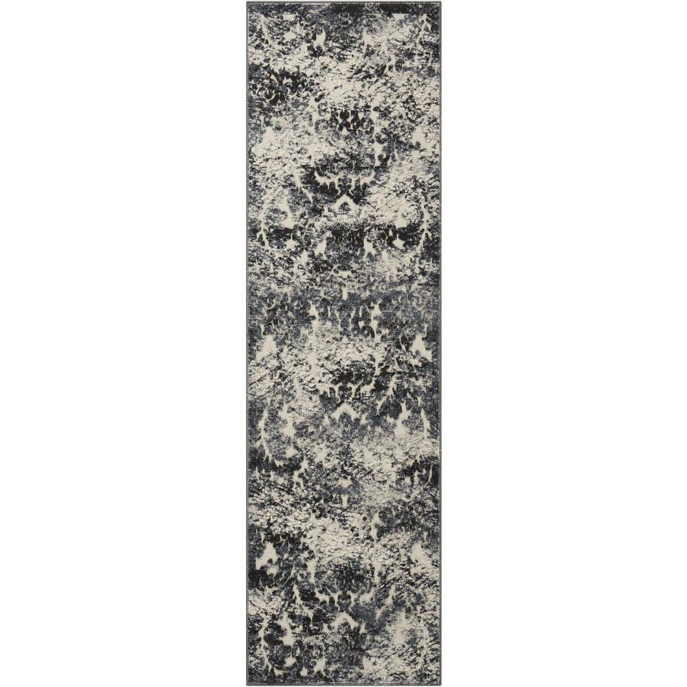 "Gleam Area Rug, Ivory/Slate, 2'2"" x 7'6"". Picture 1"