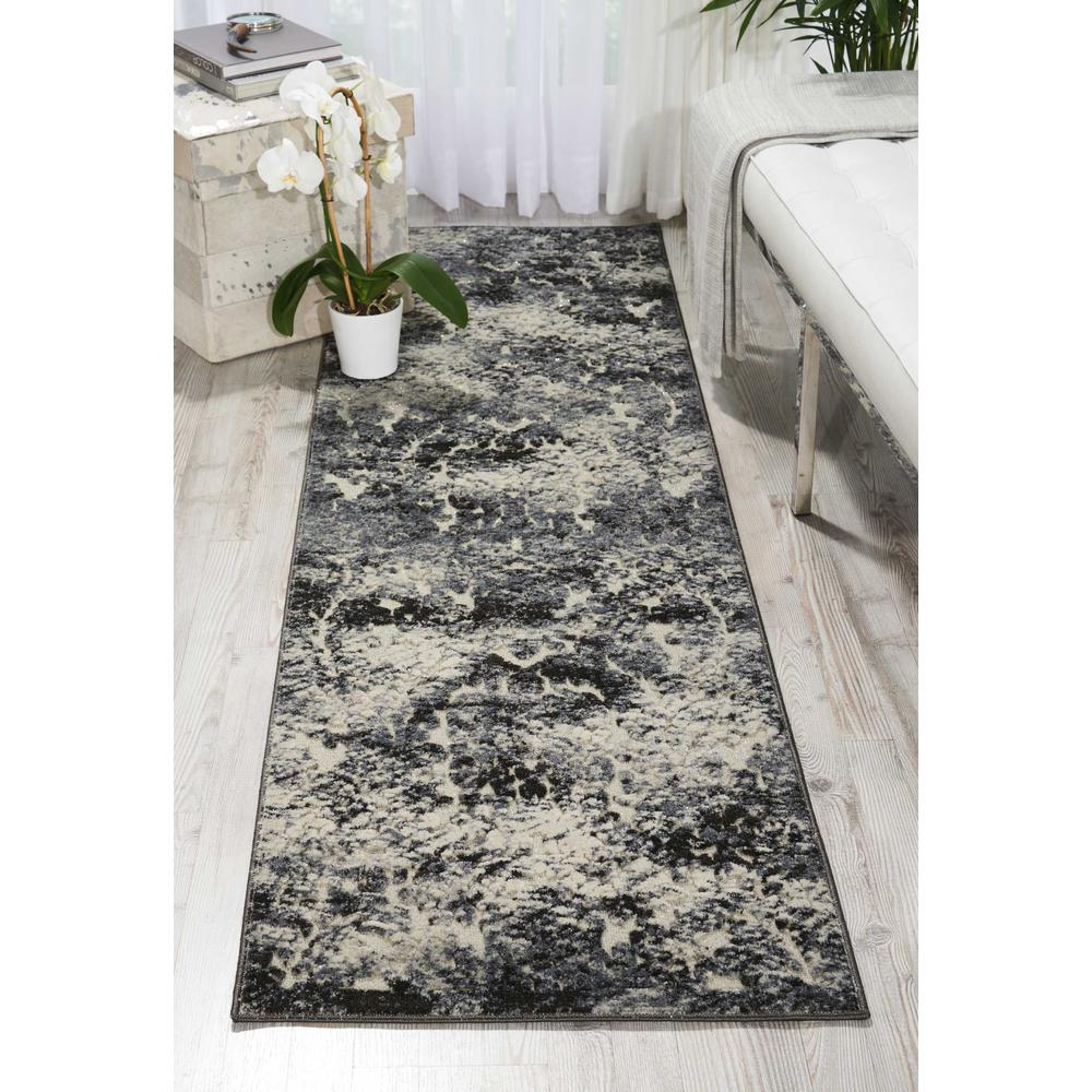 "Gleam Area Rug, Ivory/Slate, 2'2"" x 7'6"". Picture 2"