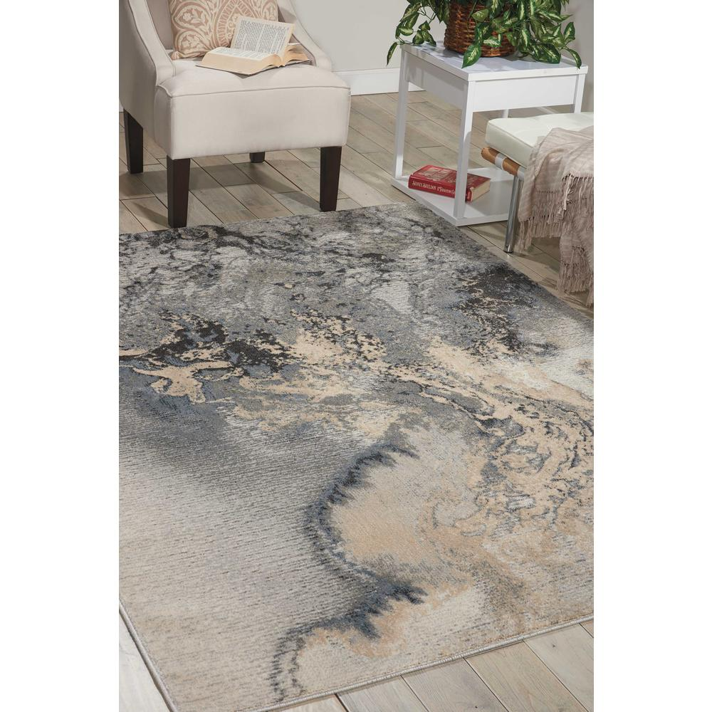 """Maxell Area Rug, Grey, 3'10"""" x 5'10"""". Picture 2"""