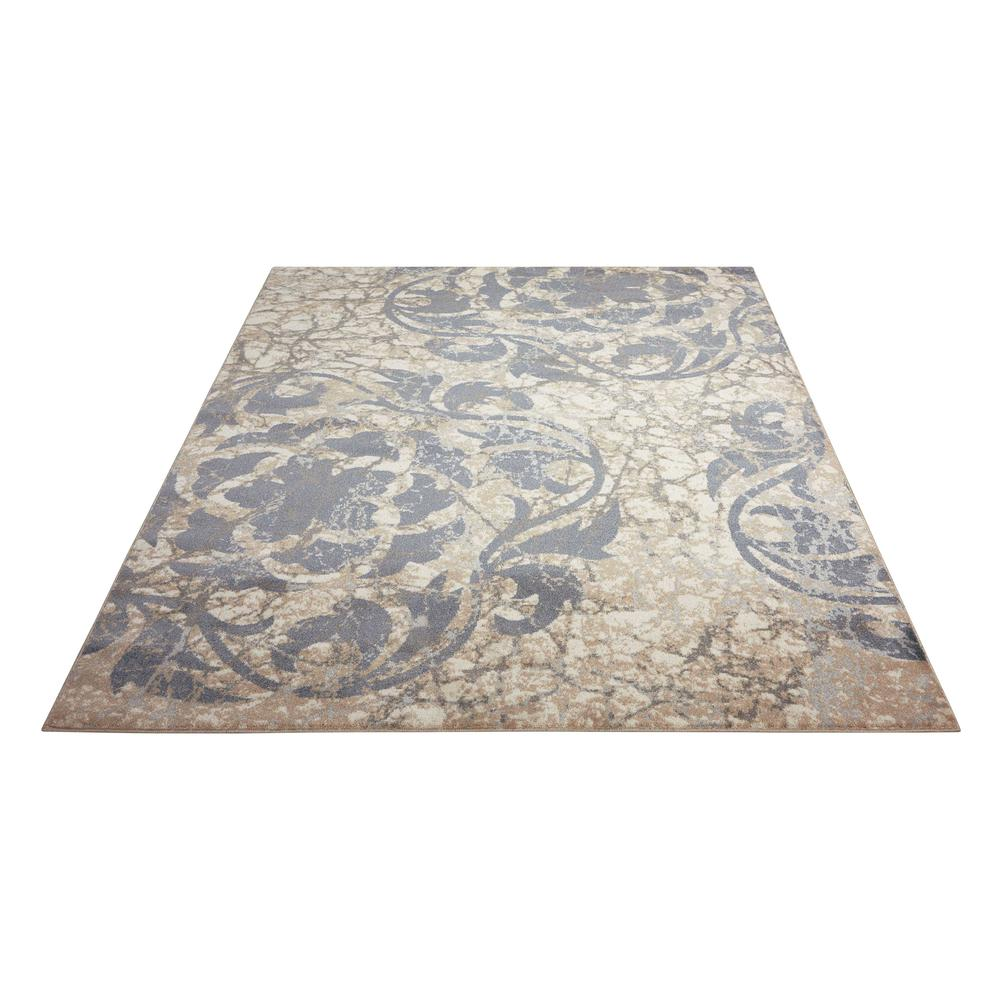 """Maxell Area Rug, Ivory/Blue, 3'10"""" x 5'10"""". Picture 3"""