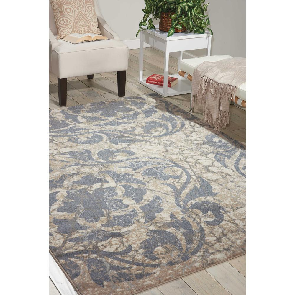 """Maxell Area Rug, Ivory/Blue, 3'10"""" x 5'10"""". Picture 2"""