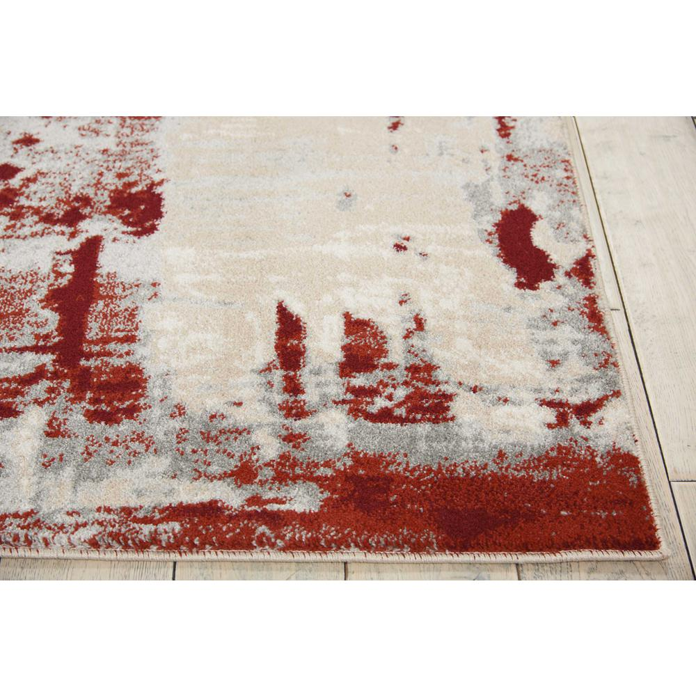 """Maxell Area Rug, Ivory/Red, 7'10"""" x 10'6"""". Picture 3"""
